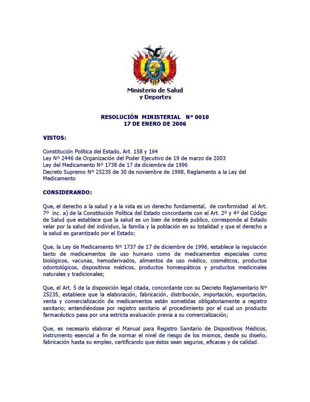 35 - Manual para Registro Sanitario de Dispositivos Médicos by ...