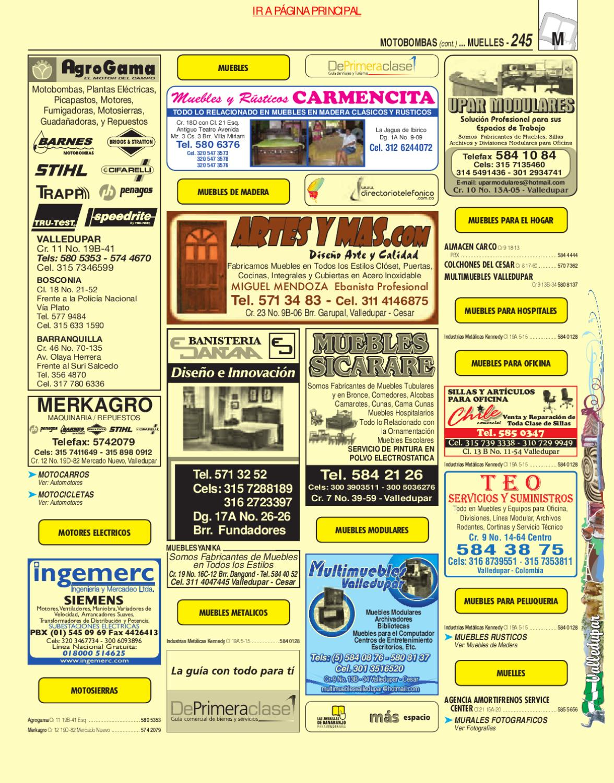 Directorio Telefonico Valledupar Cesar 2010 P Ginas Amarillas By  # Muebles Dangond