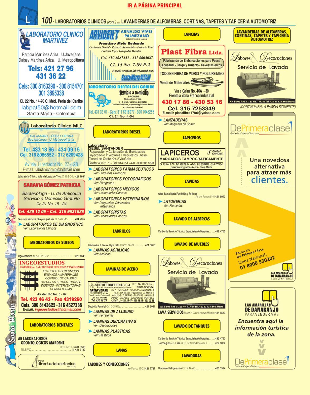 Directorio Telefonico Sta Marta Magdalena 2010 P Ginas Amarillas  # Muebles Harvi Barranquilla Direccion