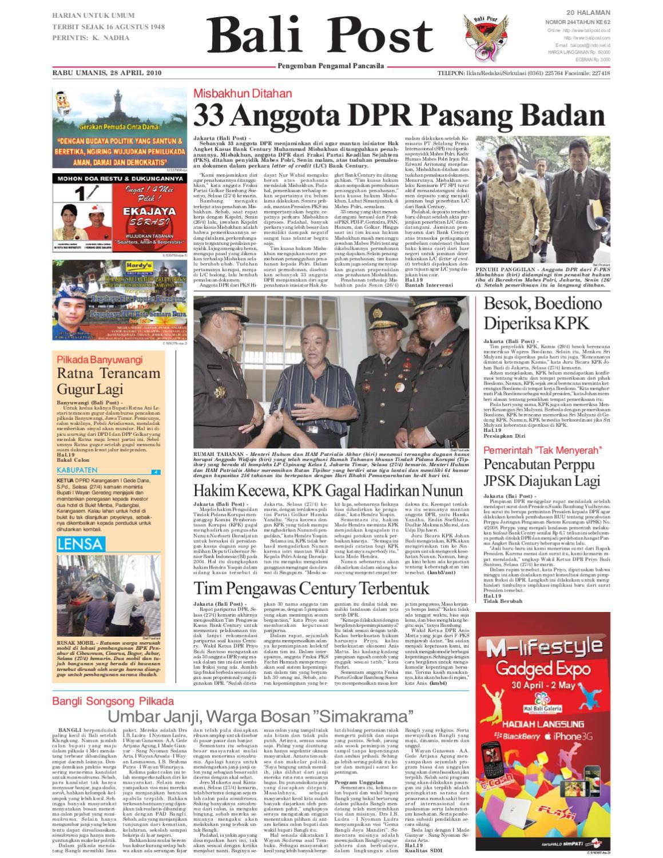 Edisi 28 April 2010 Balipostcom By E Paper Kmb Issuu Loop Ekskul Voucher Map Rp 100000