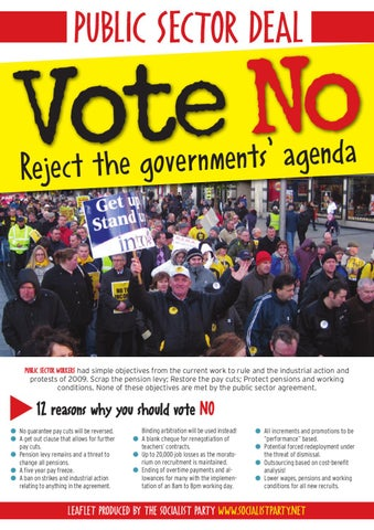 Vote No To The Public Sector Pay Deal By Socialist Party Issuu