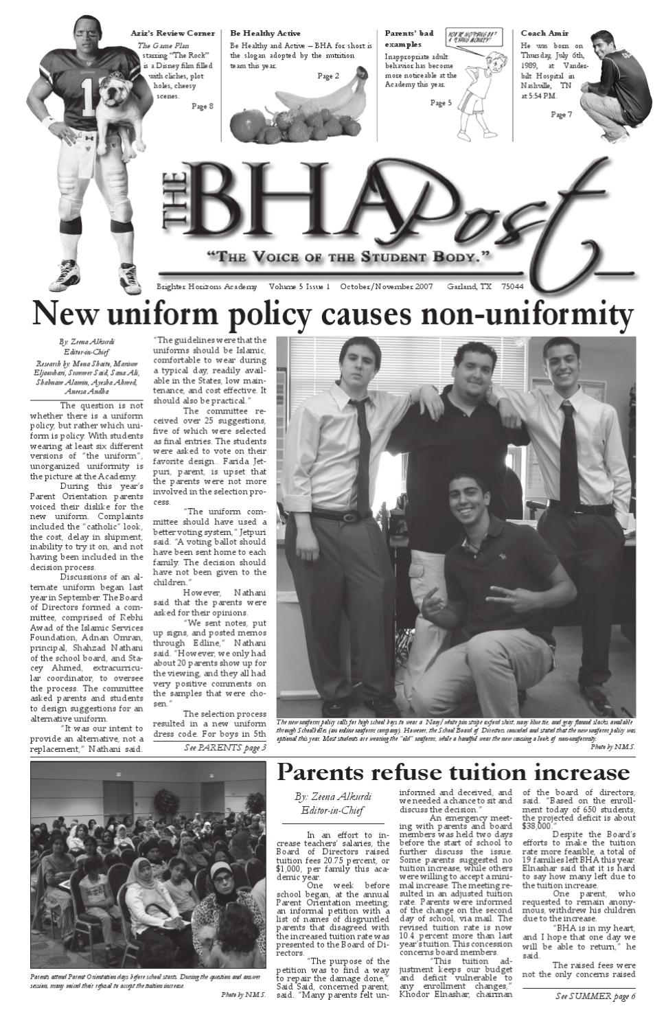 November 2007- BHA POST by Brighter Horizons Academy - issuu