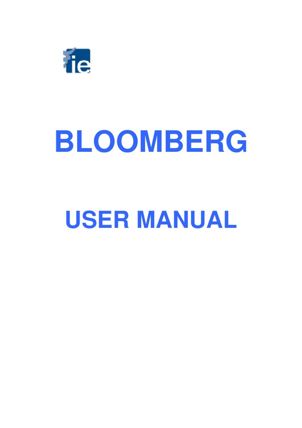 Bloomberg: Tutorial by IE Library - issuu