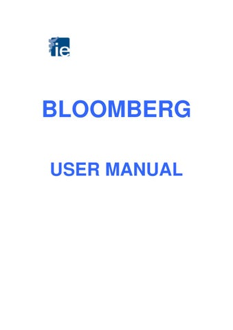 Bloomberg Tutorial By Ie Library Issuu