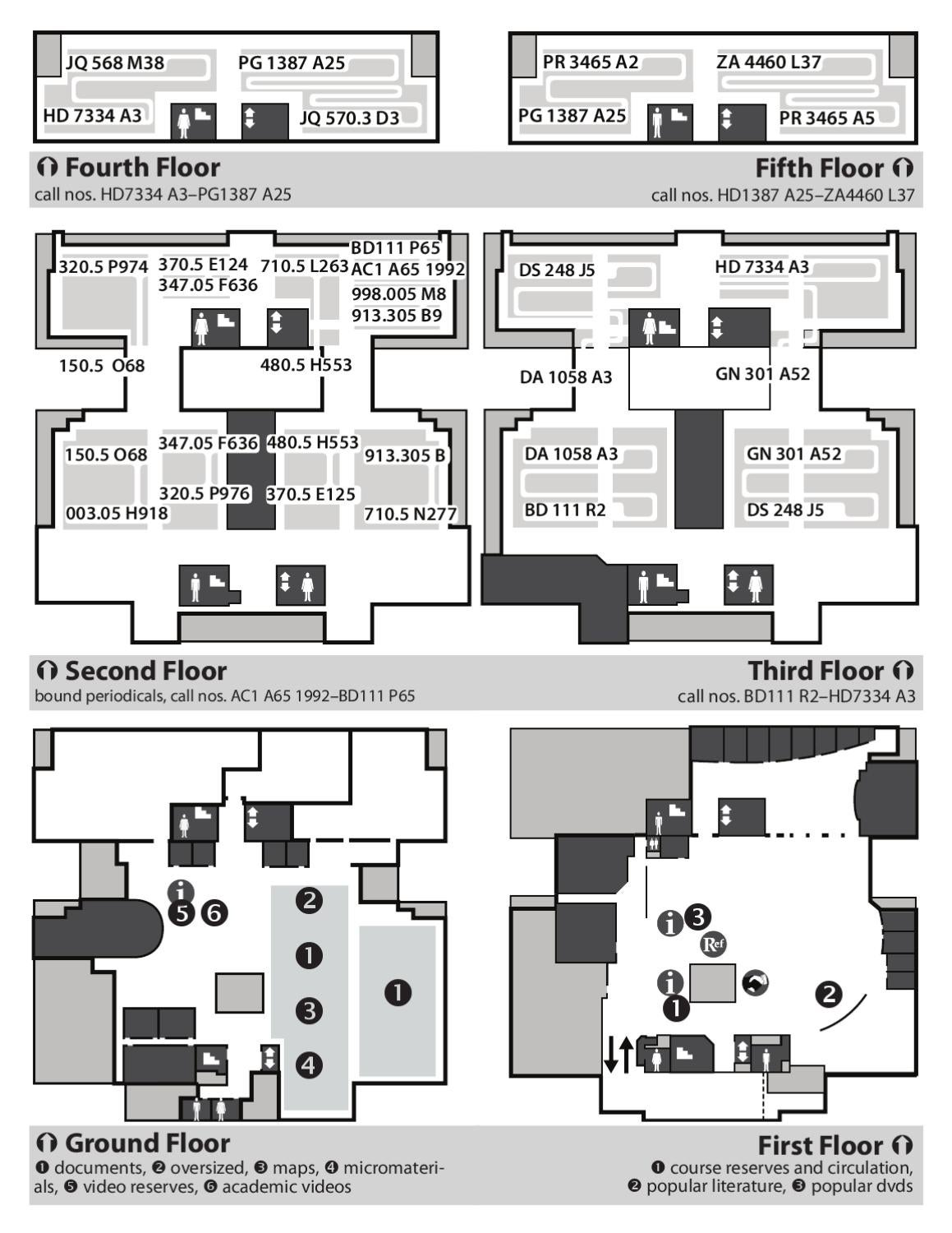Map of Strozier Library by Florida State University Libraries - issuu