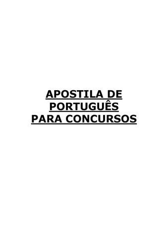 Apostila%2Bde%2BPortugues%2Bpara%2BConcursos%2BPRF by rinaldo castro ... 0a94b708c1739