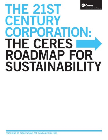 The Ceres Roadmap for Sustainability by Some Things Organic