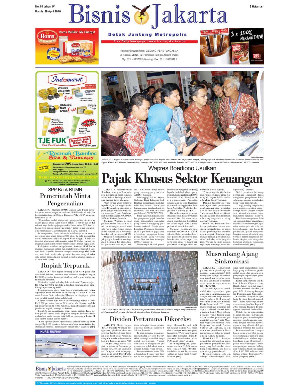 Bisnis Jakarta Kamis 29 April 2010 By E Paper Kmb Issuu Produk Ukm Bumn Ring Mutiara Mas Putih Laut
