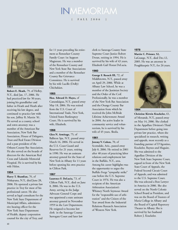 Albany Law Magazine - Fall 2006 by Albany Law School - issuu