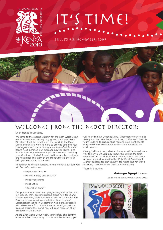 13th World Scout Moot - Bulletin 2: November 2009