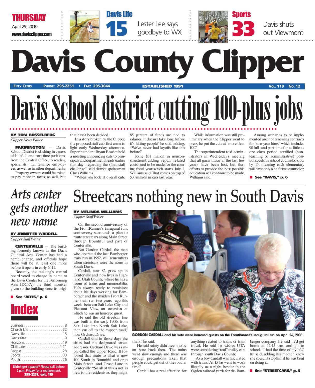 Davis Clipper April 29, 2010 by Davis Clipper - issuu