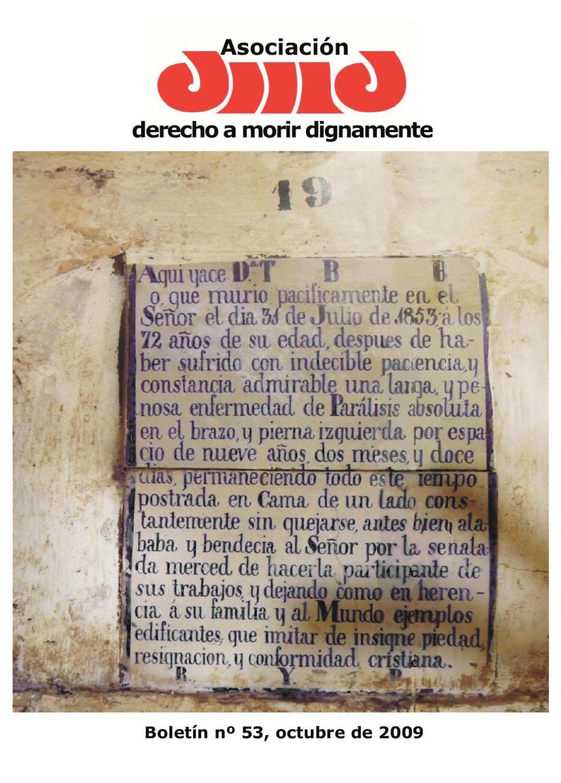 Boletín 53 by Asociación Derecho a Morir Dignamente - issuu