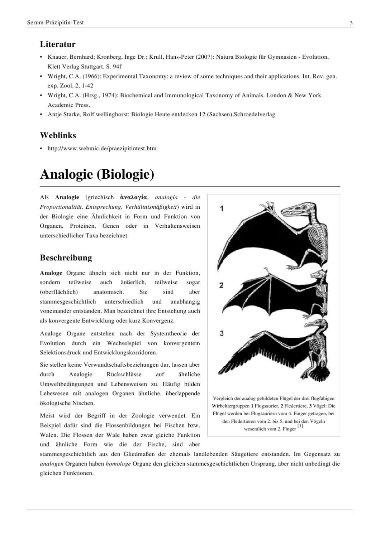 homologe und analoge organe