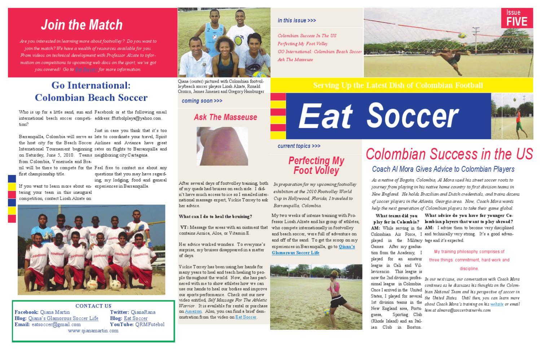 Eat Soccer Barranquilla by Qiana Martin - issuu