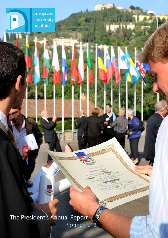 EUI President's Annual Report - Spring 2010 by European University ...