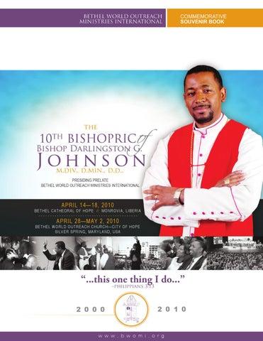 Bishop Darlingston G Johnson 10th Bishopric