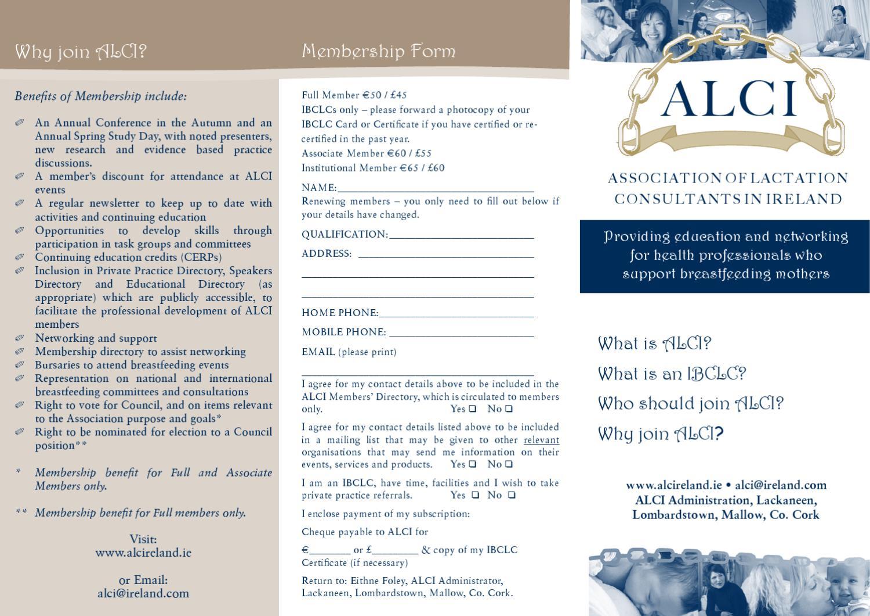 Alci Membership Form By Eithne Foley Issuu
