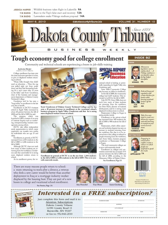 05 06 2010 Dakota County Tribune Business Weekly By Parcel Kristal Pja 1643 Issuu