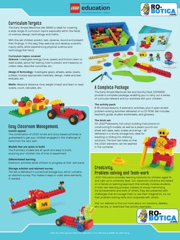 Máquinas tempranas sencillas - LEGO Education - RO-BOTICA by