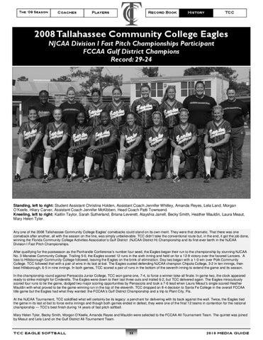 2010 TCC Softball Media Guide by Rob Chaney - issuu