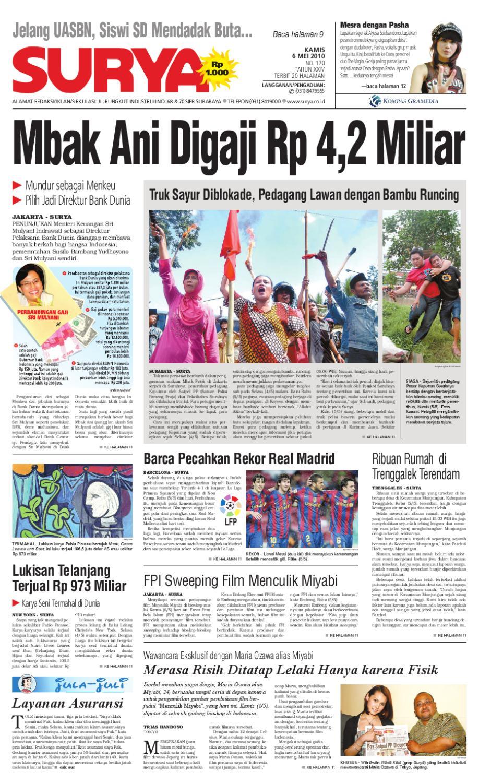 Surya Edisi Cetak 06 Mei 2010 By Harian Issuu Produk Ukm Bumn Kain Batik Eksklusif Lasem Manuk