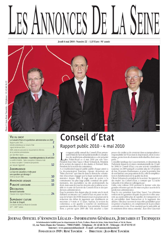 Les Annonces De La Seine 22 Du Jeudi 6 Mai 2010 By Annonces De La