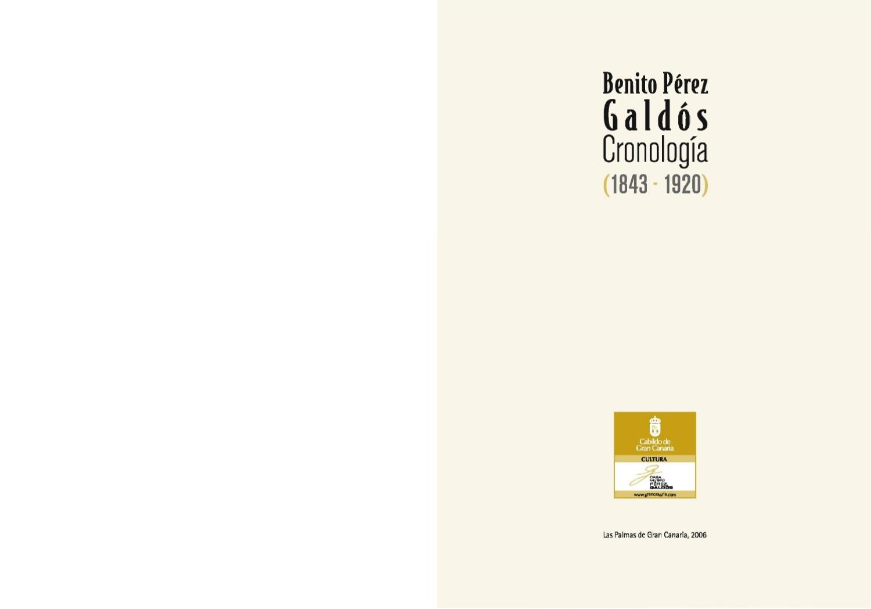 Benito Pérez Galdós· Cronología · (1843-1920) by Gran Canaria ...