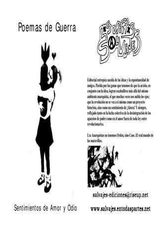Poemas de Guerra - Sentimientos de Amor y Odio by Anarkia .cl - issuu
