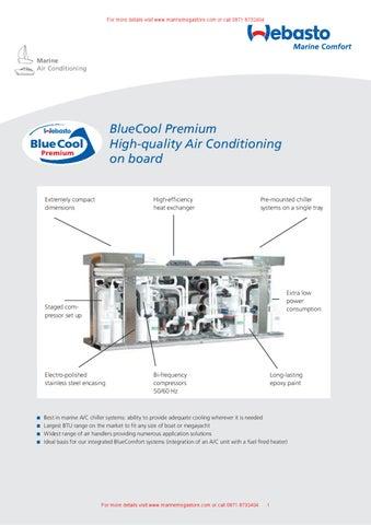 Webasto Marine Comfort-Datasheet BlueCool Premium by Marine