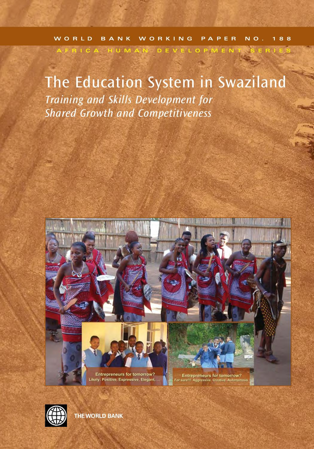 The Education System in Swaziland by World Bank Group