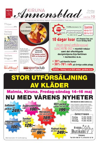 low priced 32e6b 7c4a3 Kiruna Annonsblad 2010 v.19 by Svenska Civildatalogerna AB - issuu