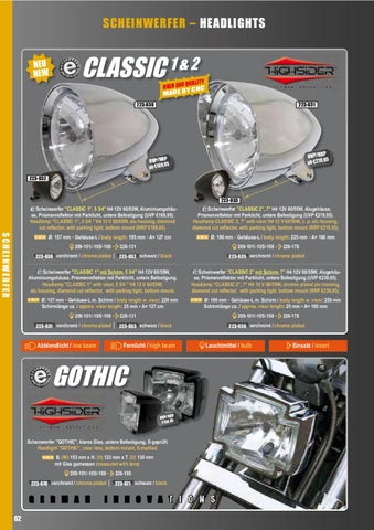 Aluminium chrom E-gepr. Blinker BULLET LIGHT 2