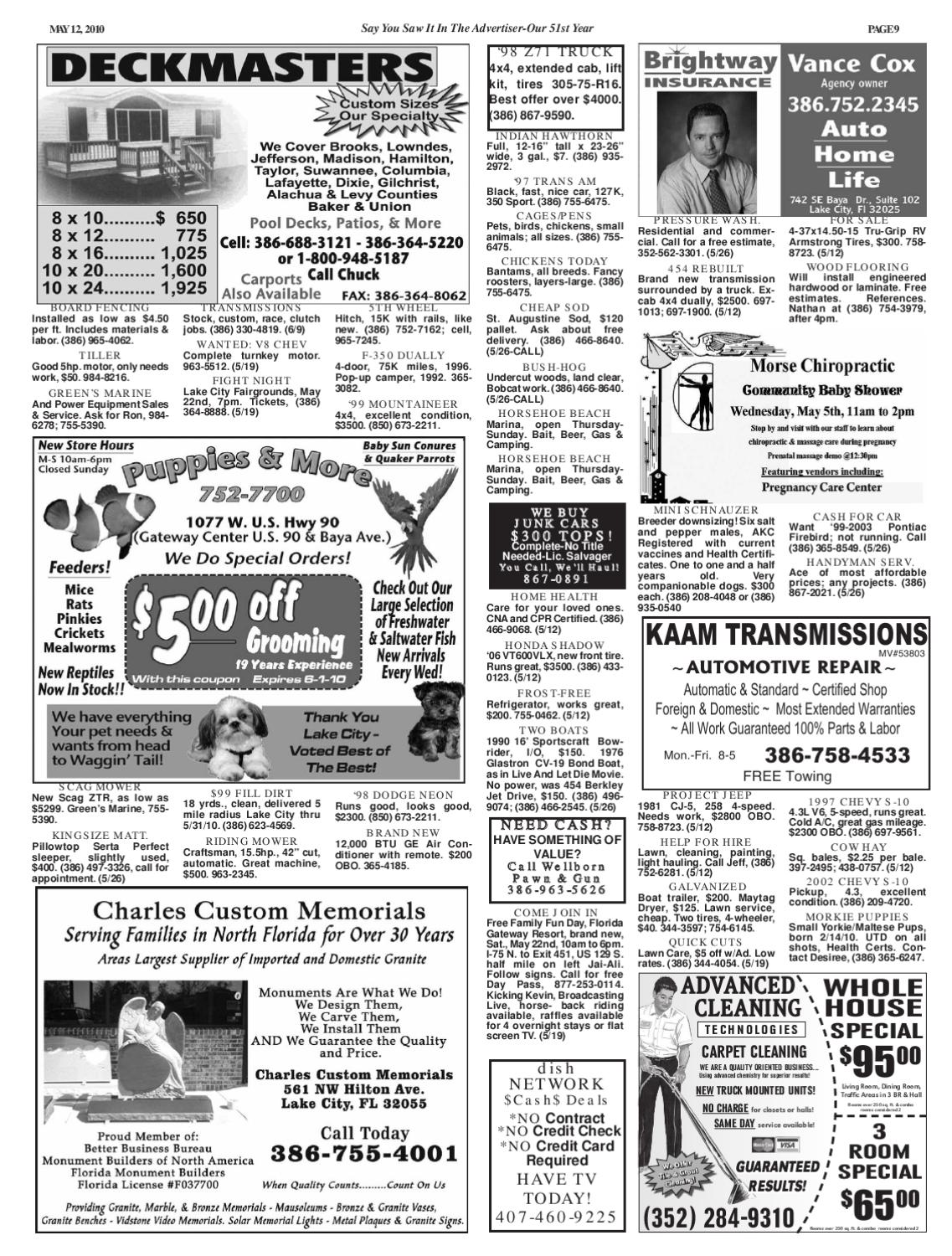 Newspaper Lake City Advertiser Volume 51 Issue 19 by SCBUSA
