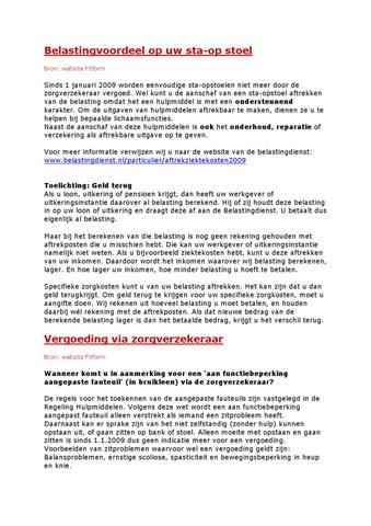 Vergoeding Sta Op Stoel.Belastingvoordeel En Vergoeding By J Van Puijenbroek Issuu