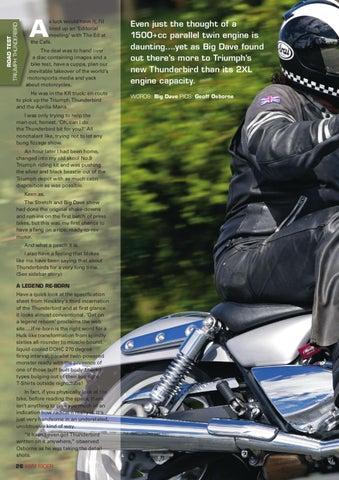 Triumph Thunderbird By Kiwi Rider Magazine Issuu