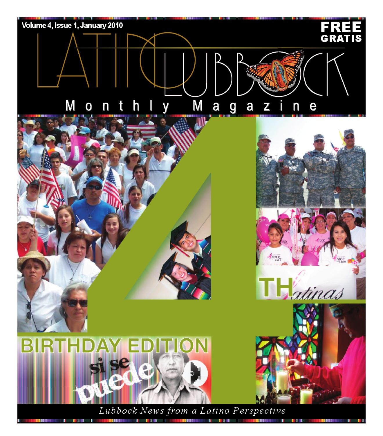January Latino Lubbock vol 4, issue 1 all color by Christy
