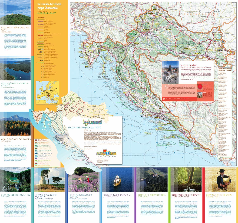 Cestovni A Turisticka Mapa Chorvatska By Croatian National Tourist