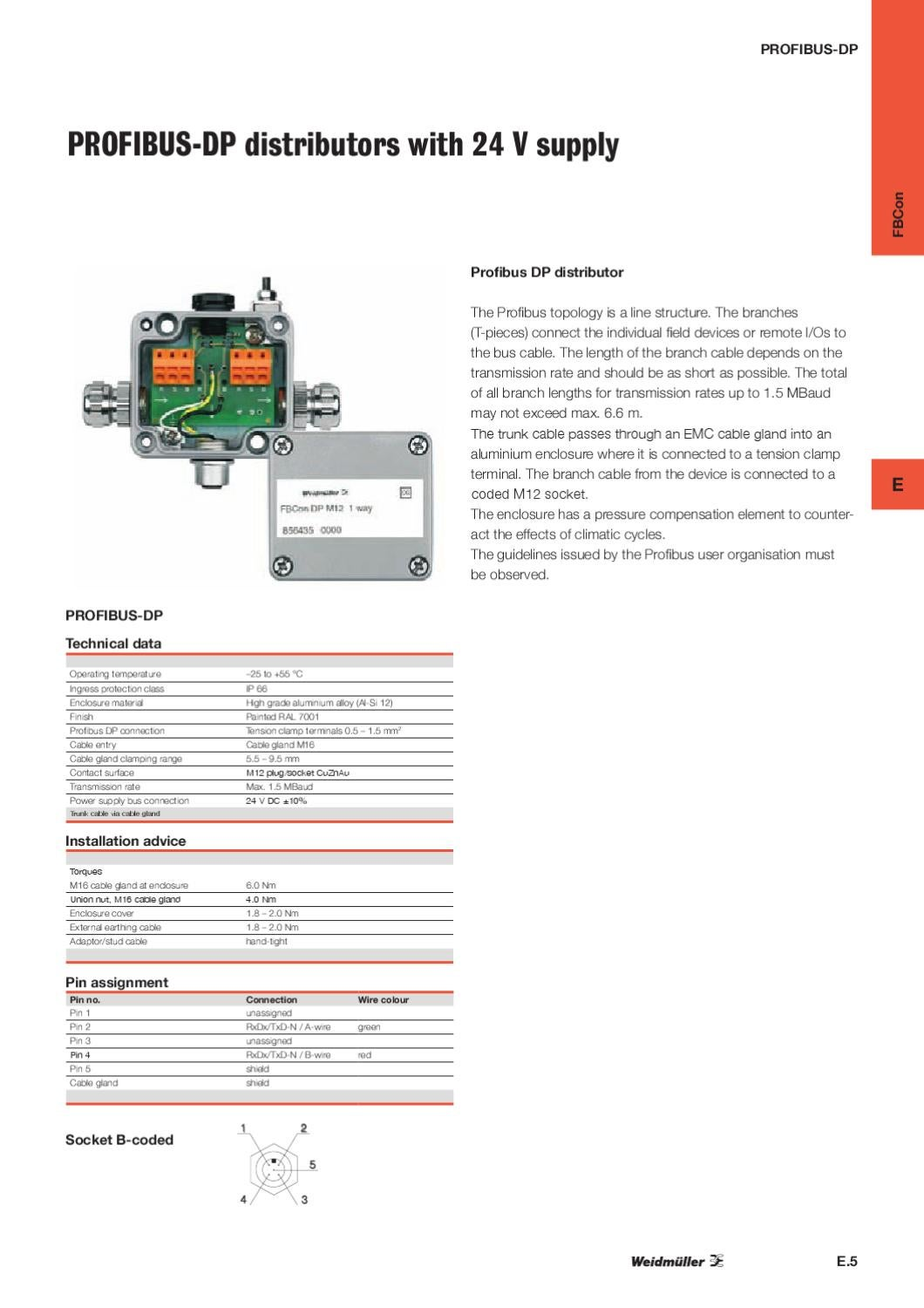 Weidmller Profibus Bokse By Wexe A S Issuu 24 Volt Wiring Plug And Receptacle