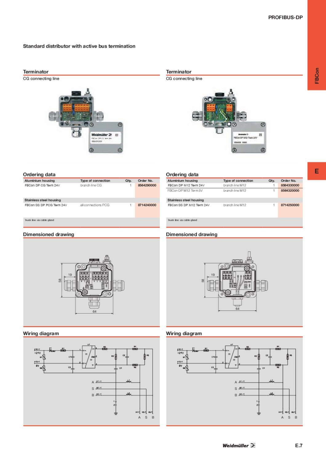 Weidmller Profibus Bokse By Wexe A S Issuu Connector Wiring Diagram