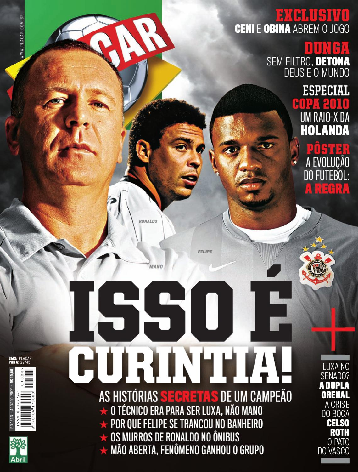 953f4f3489 Placar Agosto 2009 by Revista Placar - issuu