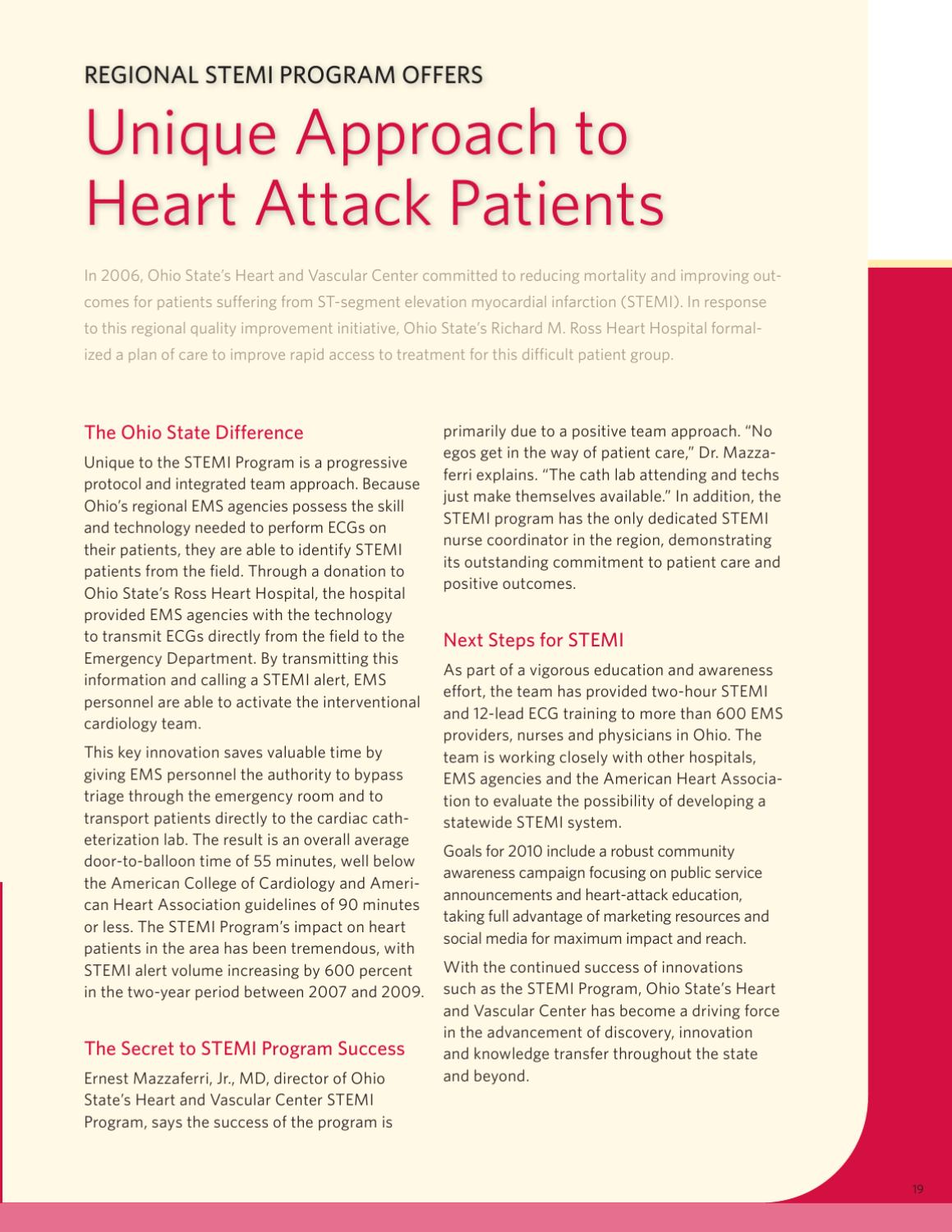 Ohio State University Heart and Vascular Center: Advances in