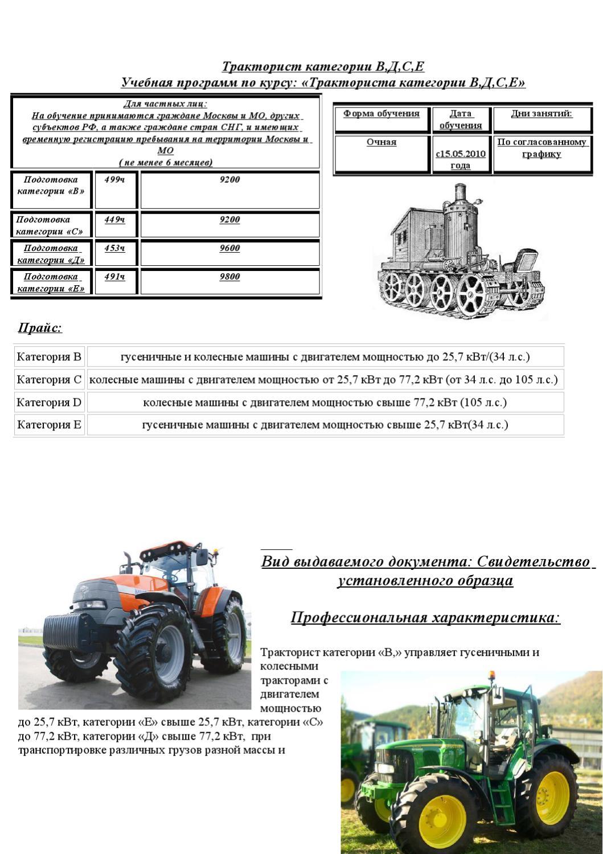 категории тракторных прав с картинками участок начинается