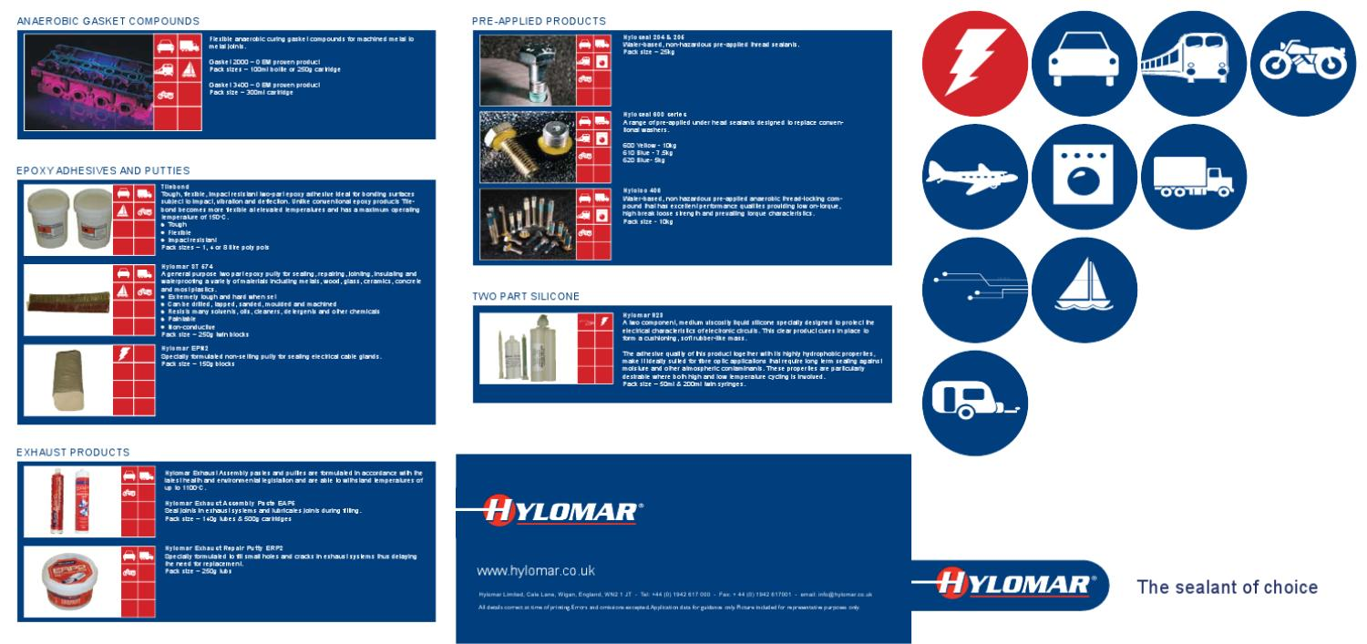 HYLOMAR EAP5 EXHAUST ASSEMBLY JOINT PASTE 500G GASKET