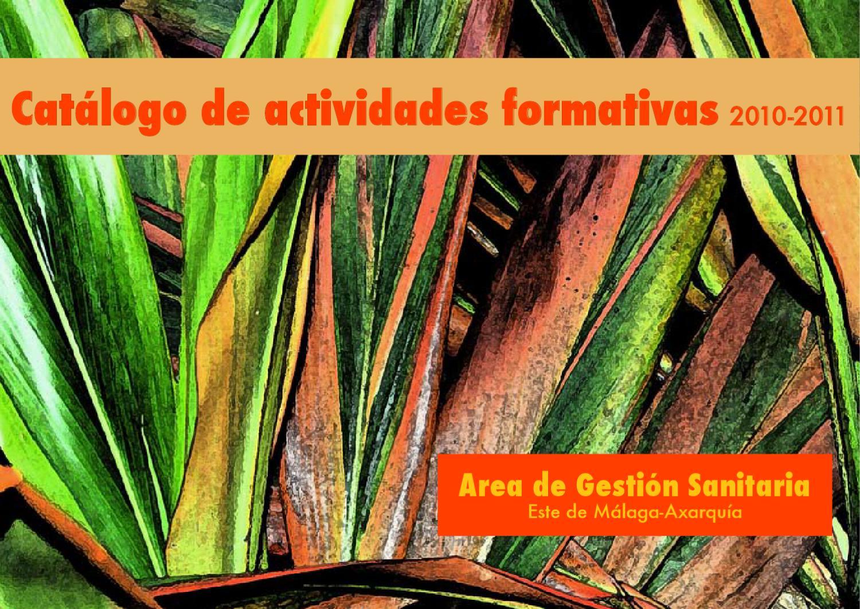 Catalogo Actividades Formativas 2010 By Formacion Axarquia