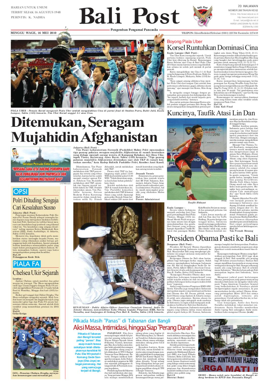 Edisi 16 Mei 2010 Balipostcom By E Paper Kmb Issuu De Michel Sandal Flat Wanita Mogi 1 Gold