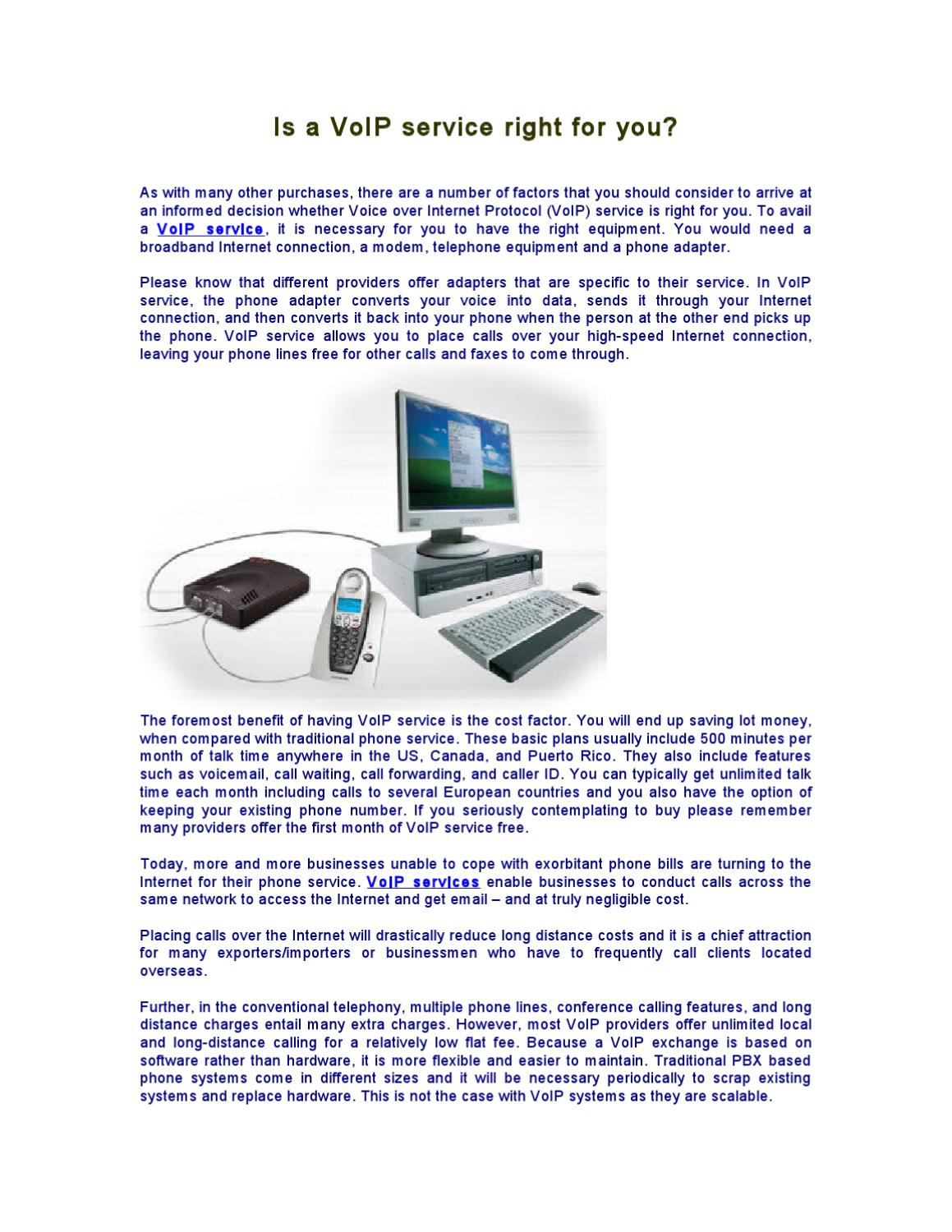 Is a VoIP service right for you? by James Allen - issuu