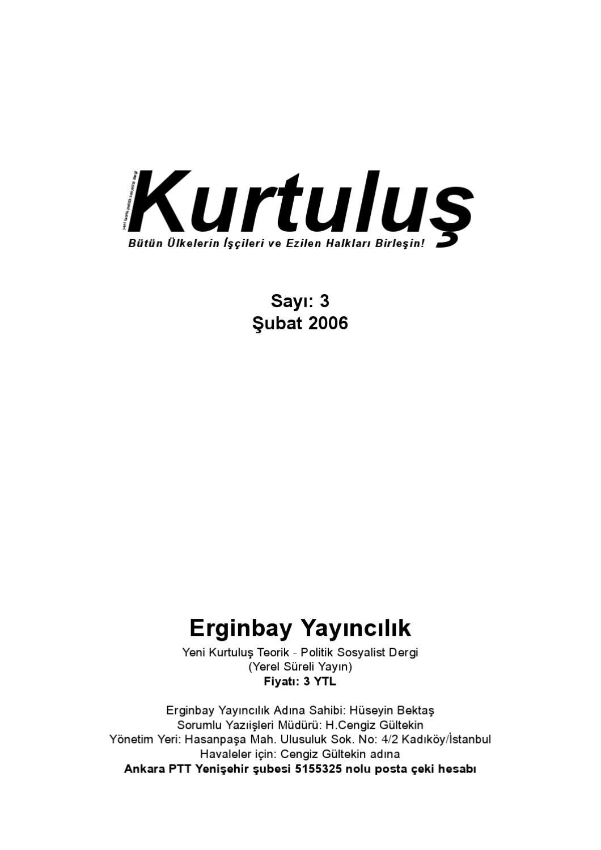 Kurtulus Dergi Say 3 By Sol Yayin Issuu
