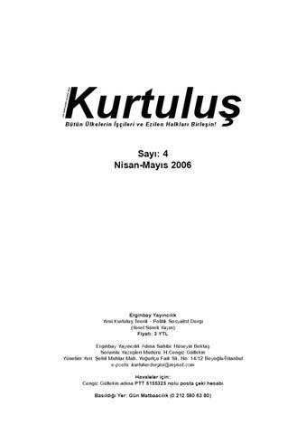 Kurtulus Dergi Say 4 By Sol Yayin Issuu