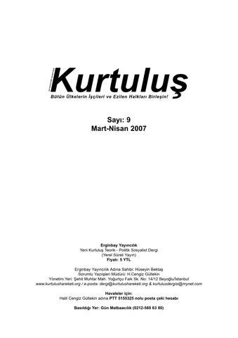 Kurtulus Dergi Say 9 By Sol Yayin Issuu