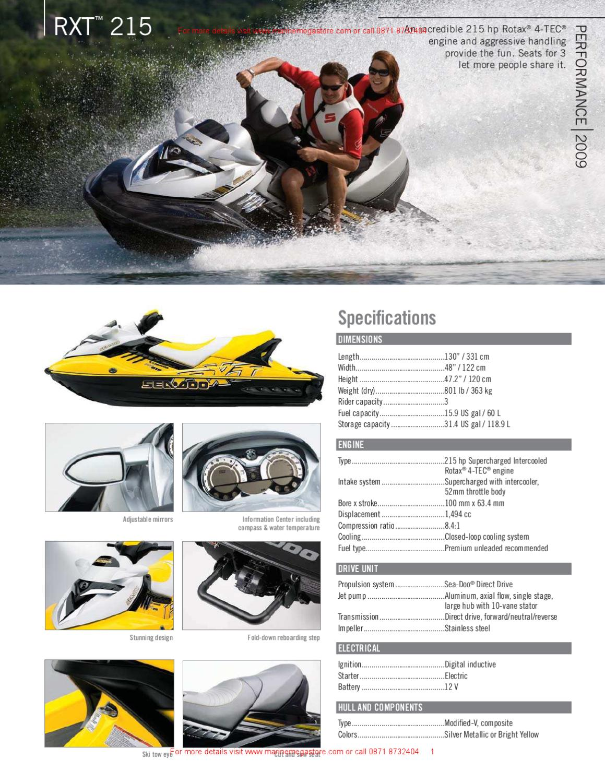 Sea Doo Rxt 215 By Marine Mega Store Ltd Issuu
